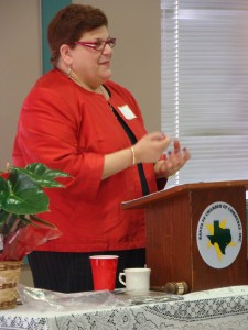 Janet Cohen speaking at Membership Meeting & Luncheon for Santa Fe, Texas, Chamber of Commerce